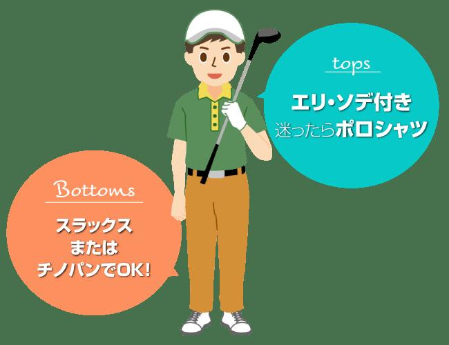 ゴルフの服装の基本