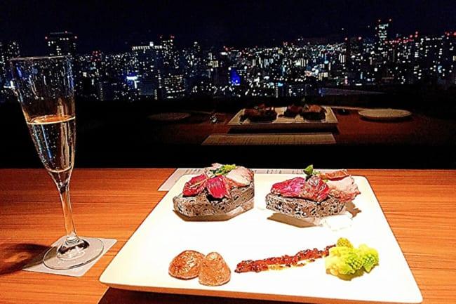 【大阪】梅田の夜景を眺められる「ちょうつがひ」で、冬の月コース料理を堪能しよう♪